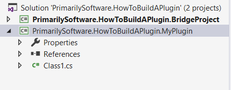 new plugin project